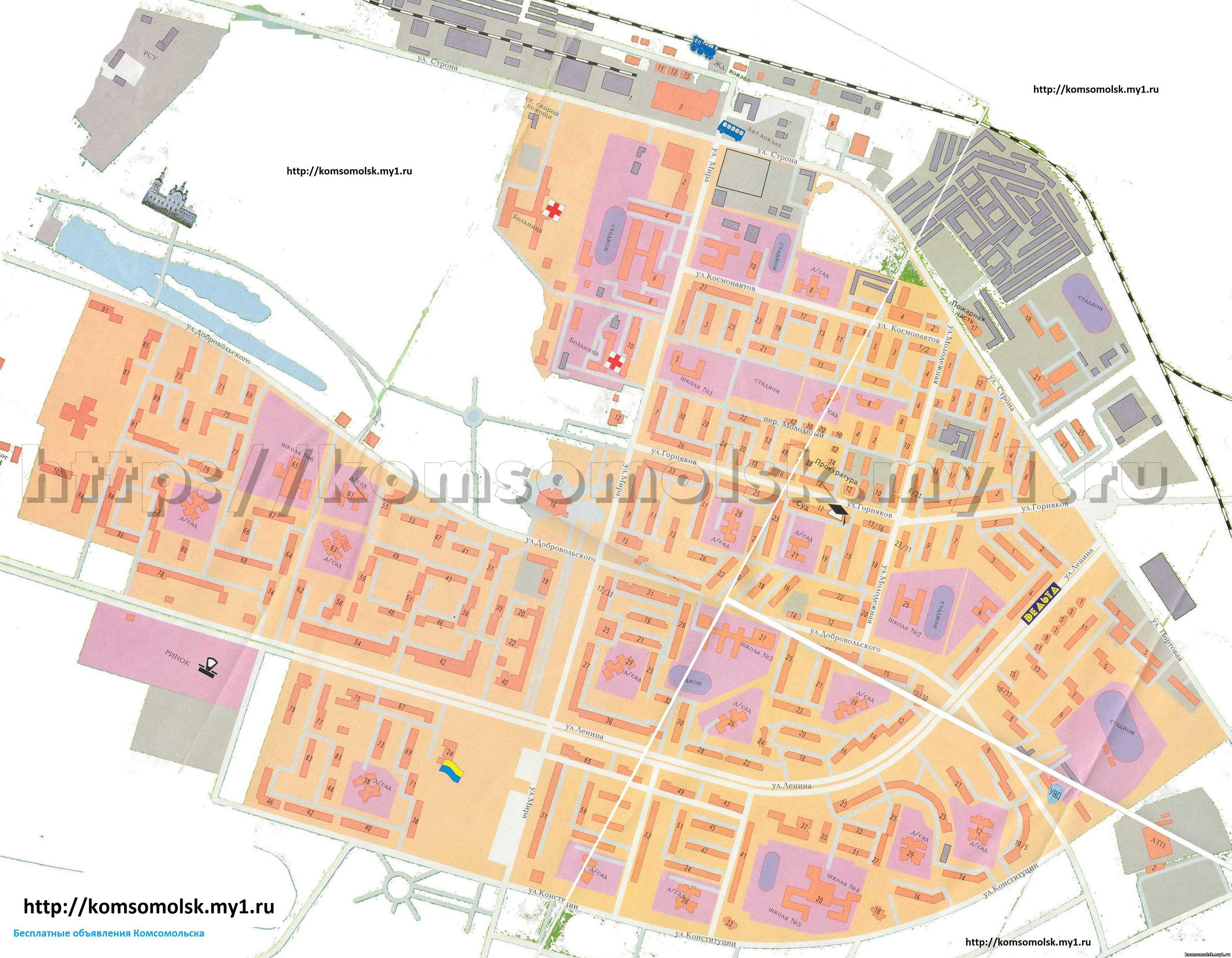 Карта Торжка С Улицами И Номерами Домов